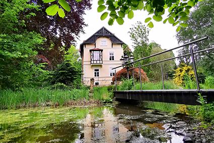 Unser naturbelassene Teich ist ein Wohlfühlplatz